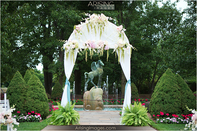 The Pegasus fountain provides a beautiful backdrop for an outdoor wedding. Chr s blog  Decorated Wedding Sanctuary Here 39s another view of