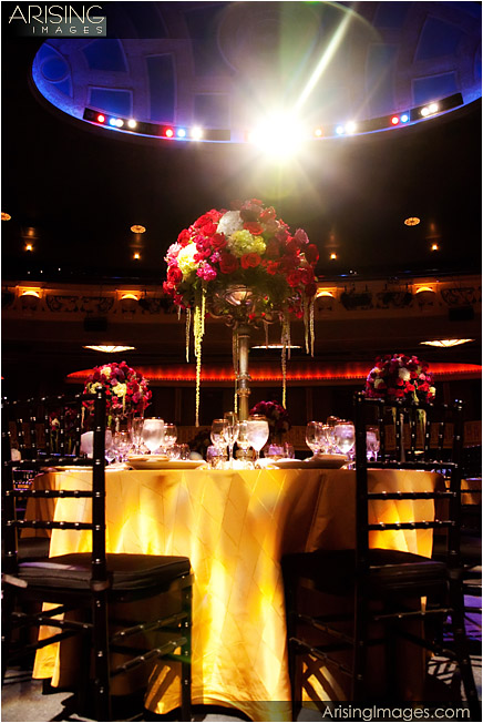 wedding reception setup at the opera house in detroit mi
