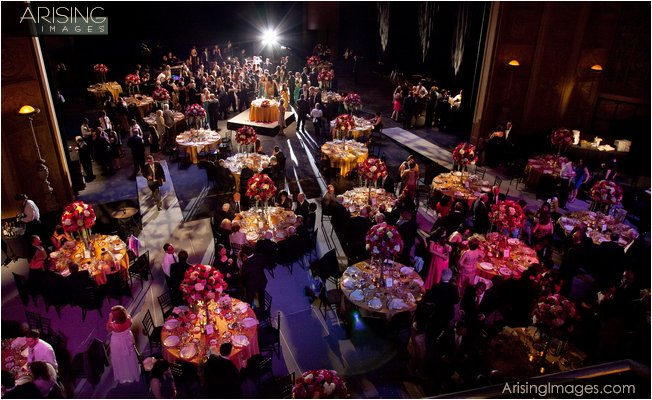 wedding reception at the detroit opera house