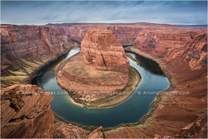 view at horseshoe bend near page, az