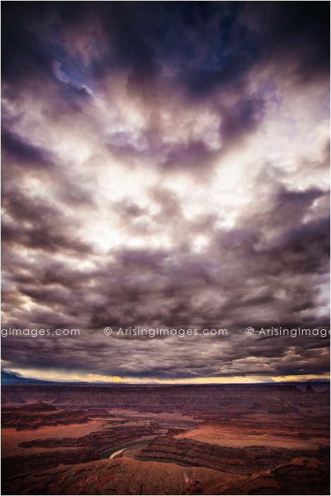 Clouds at Dead Horse Point sunrise