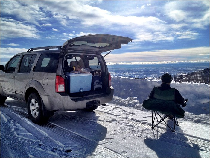 tailgating at 10,000 ft. in Utah