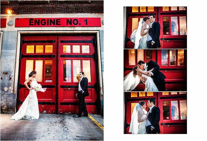 Wedding Pictures taken in Downtown Detroit