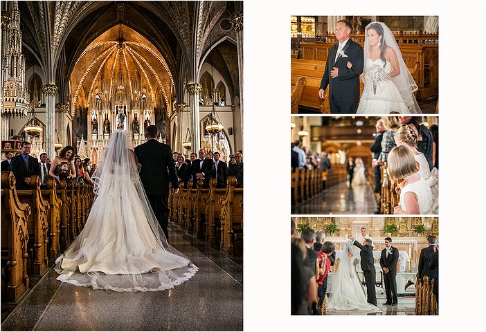 Wedding Ceremony at the Sweetest Heart of Mary Detroit