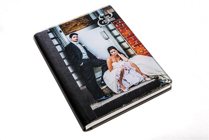 Front of Wedding Album Cover