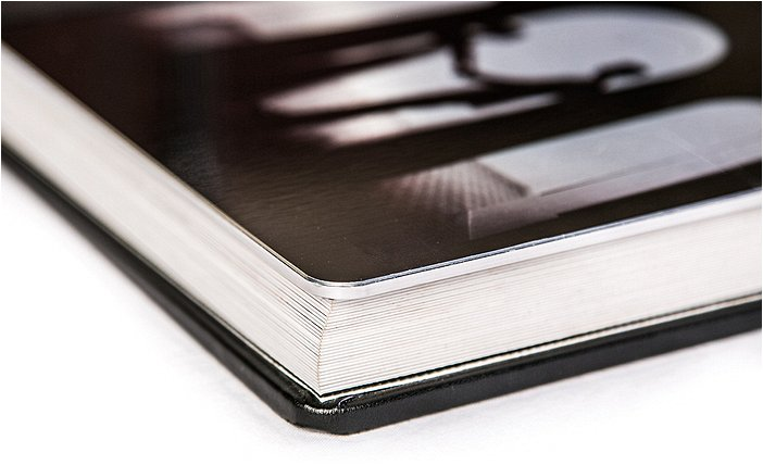 Corner View of Pages with Metal Cover