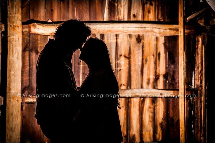 Creative rustic engagement photos