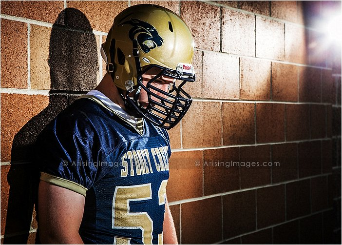 football player senior pictures in mi