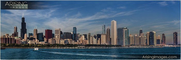 chicago panoramic skyline photo