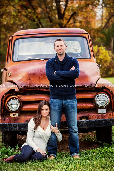 rustic engagement photos in michigan