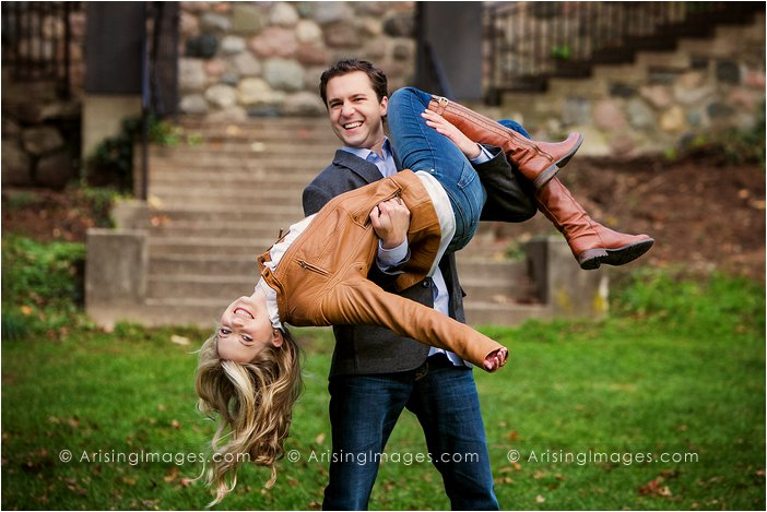 fun engagement photography in michigan