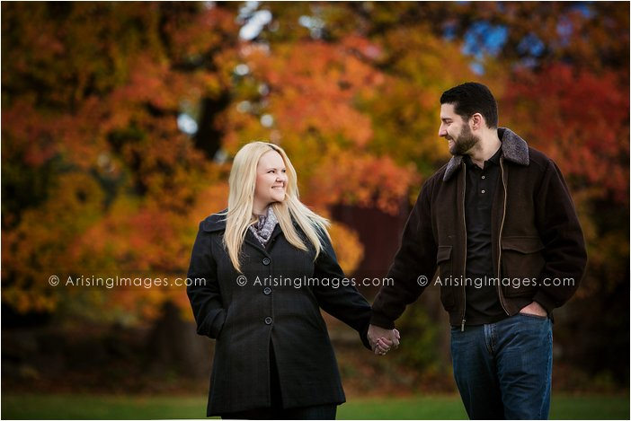 best fall engagement photography in michigan