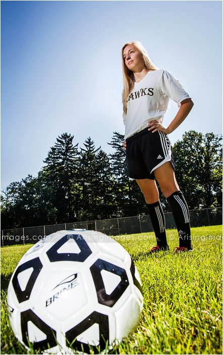 cool soccer senior photos in michigan