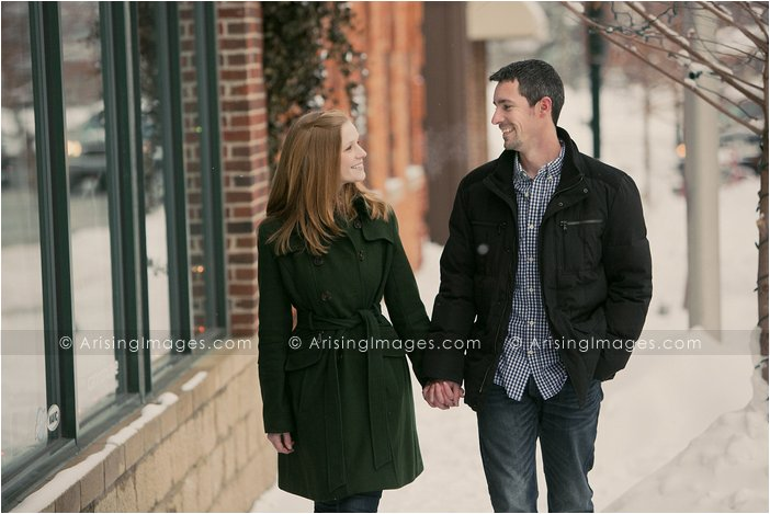 downtown engagement photos in michigan