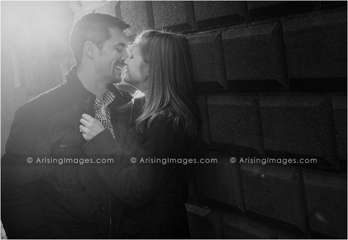 winter engagement photos in michigan