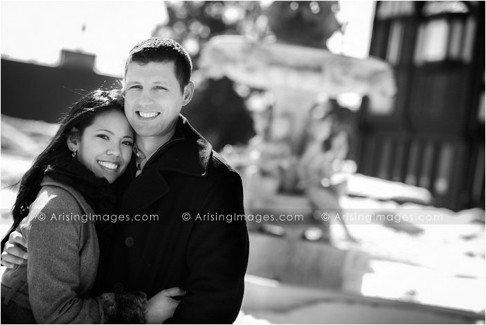 beautiful winter engagement pictures in lake orion