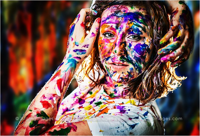 creative michigan senior pictures with paint
