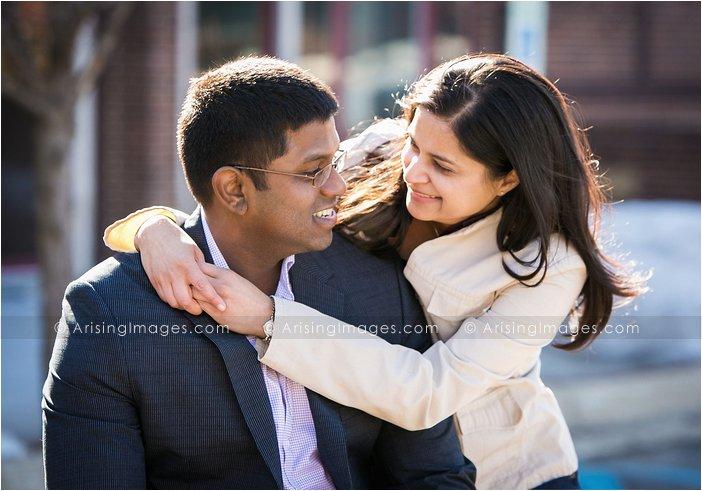 beautiful michigan engagement photography