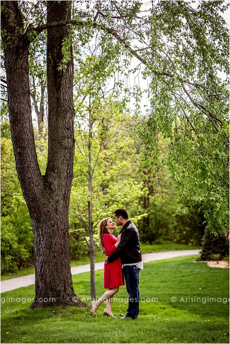 engagement pics in rochester park