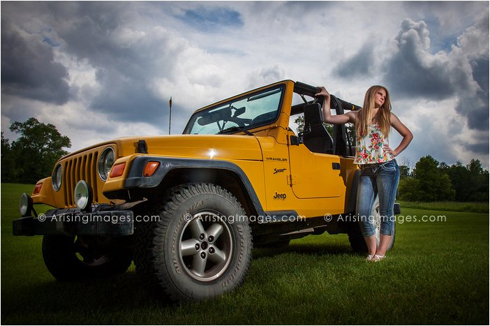 cool michigan senior pics with your car