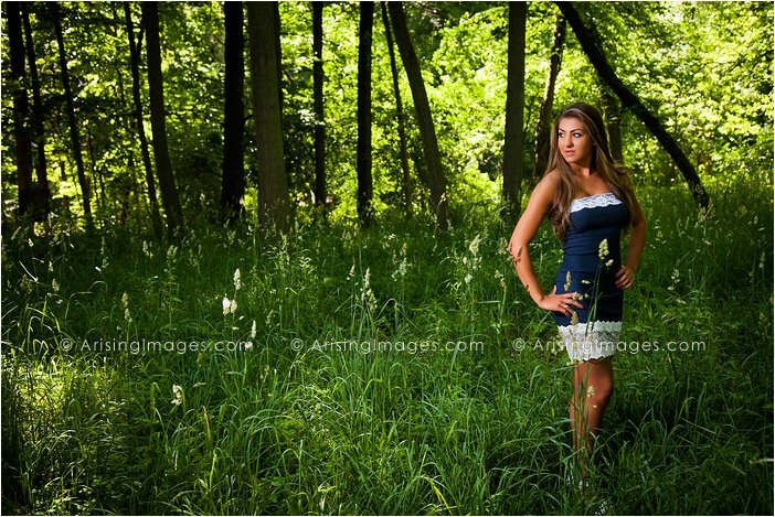 rural nature michigan senior pictures