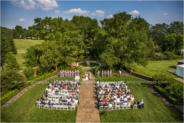 outdoor wedding ceremony photography at meadow brook