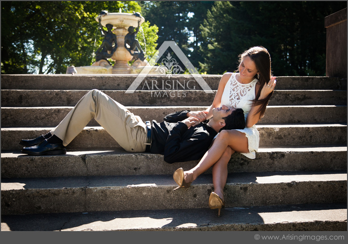 cute bloomfield hills michigan engagement pictures