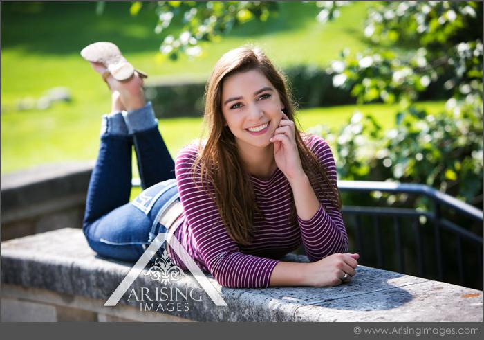 unique senior pictures at cranbrook