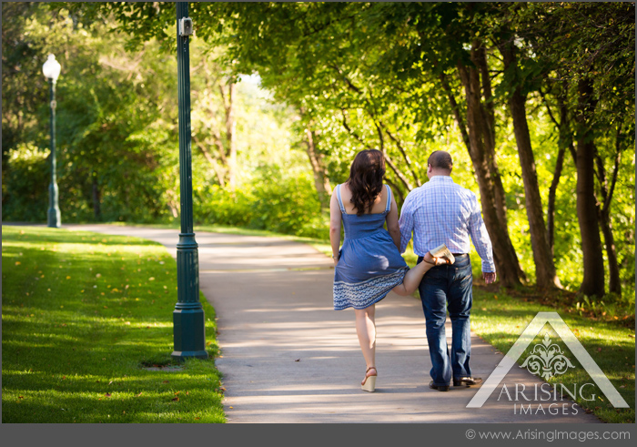 fun engagement photography rochester michigan