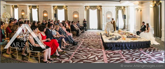 westin book cadillac crystal ballroom wedding ceremony