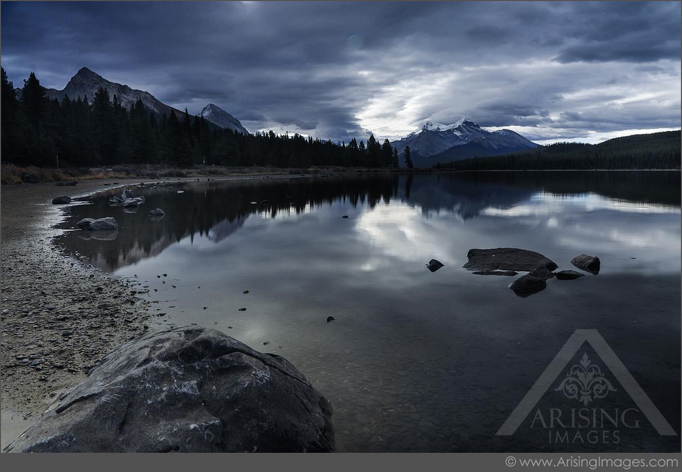 Maligne Lake Reflection, Jasper National Park