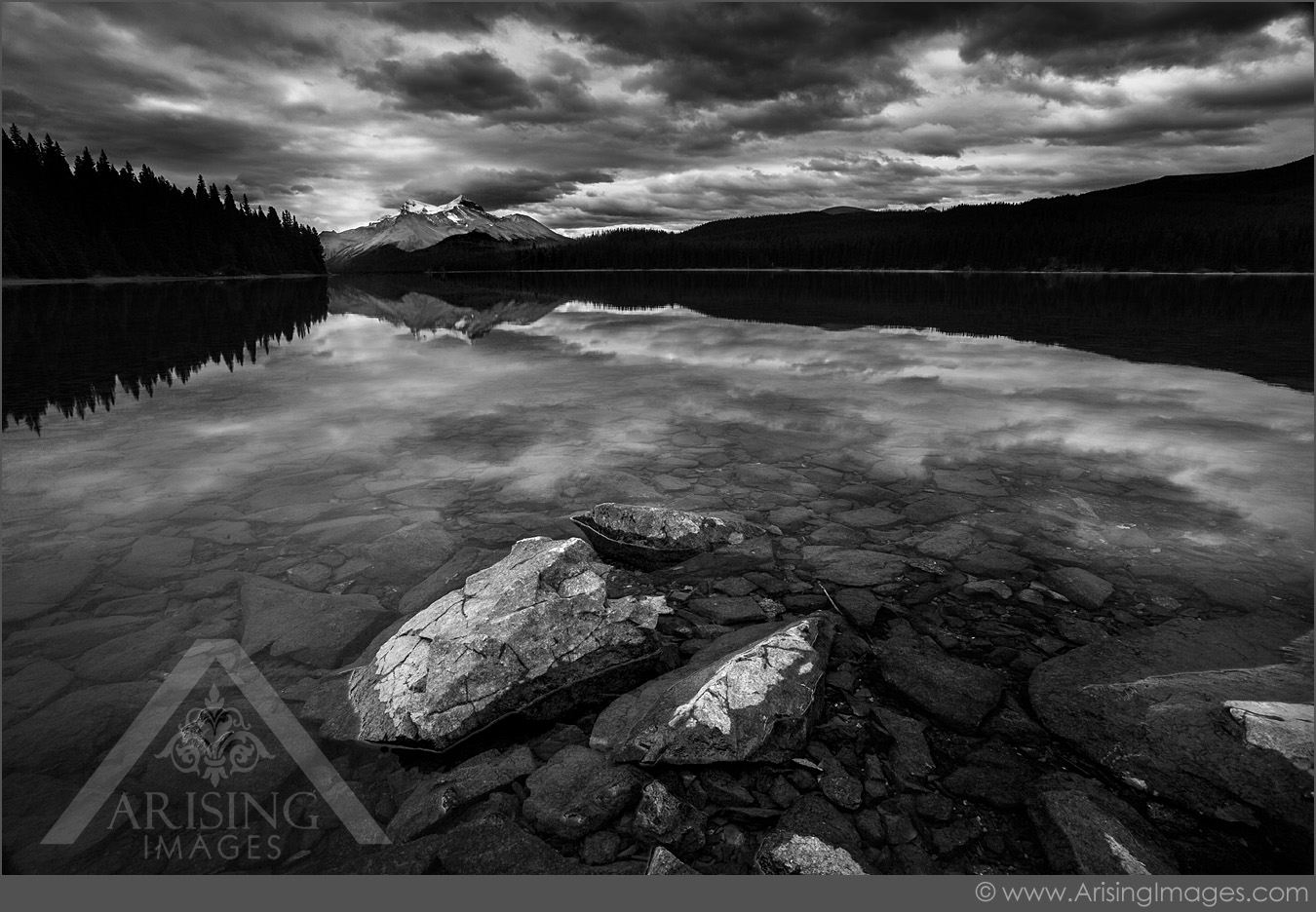Maligne Lake Reflection, Jasper National Park