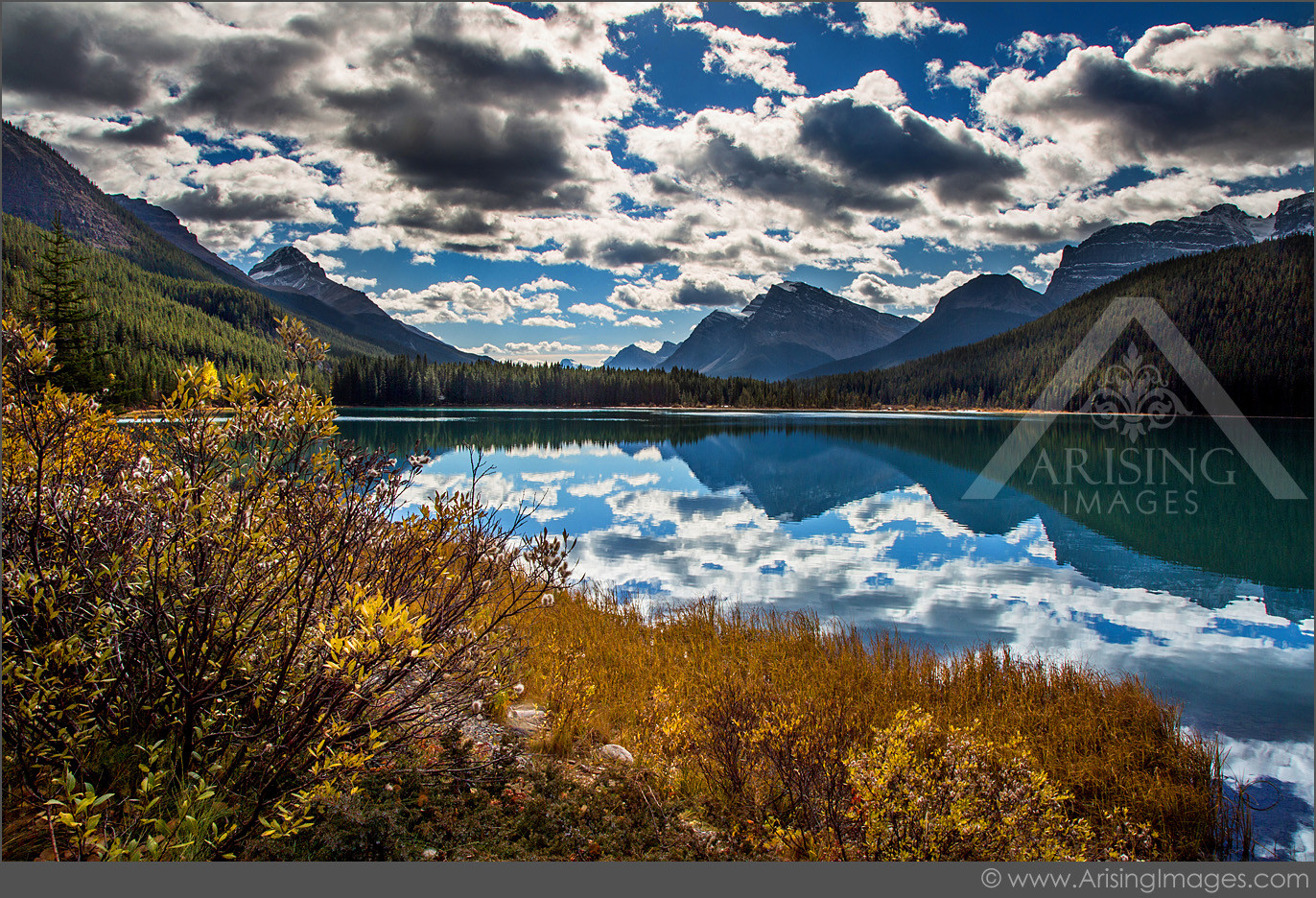 Waterfowl Lake in Jasper National Park