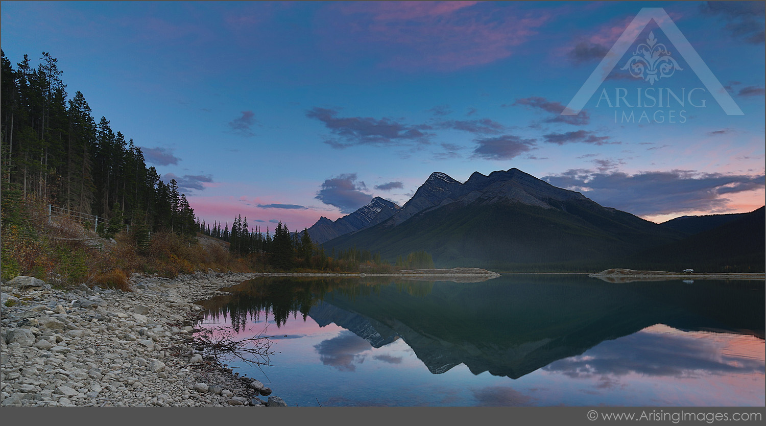 Sunset at Goat pond in Banff National Park