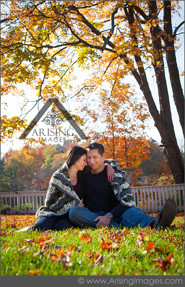 michigan fall engagement pictures