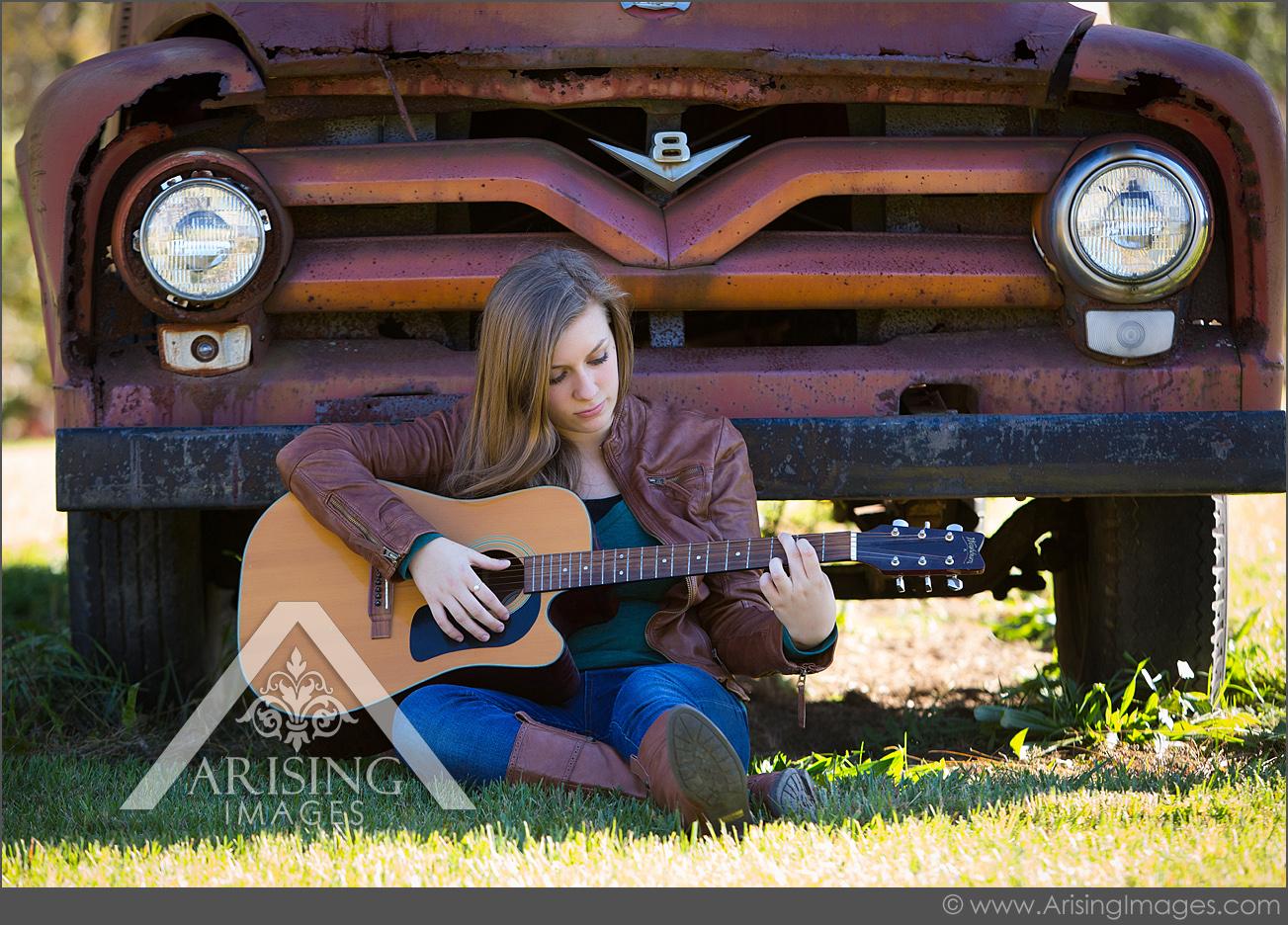 michigan guitar player senior pictures