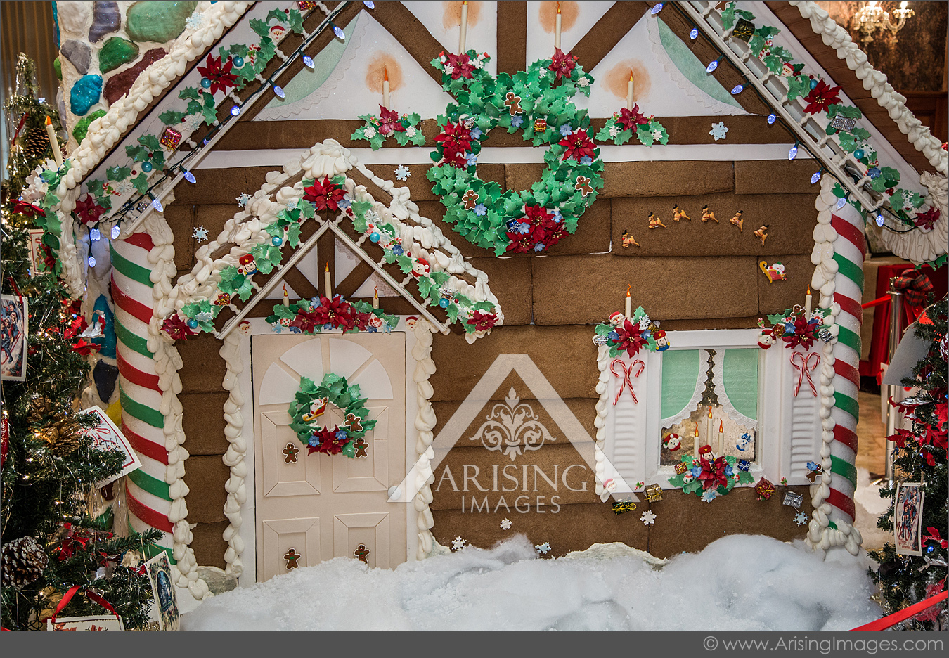 gingerbread house at the royal park hotel