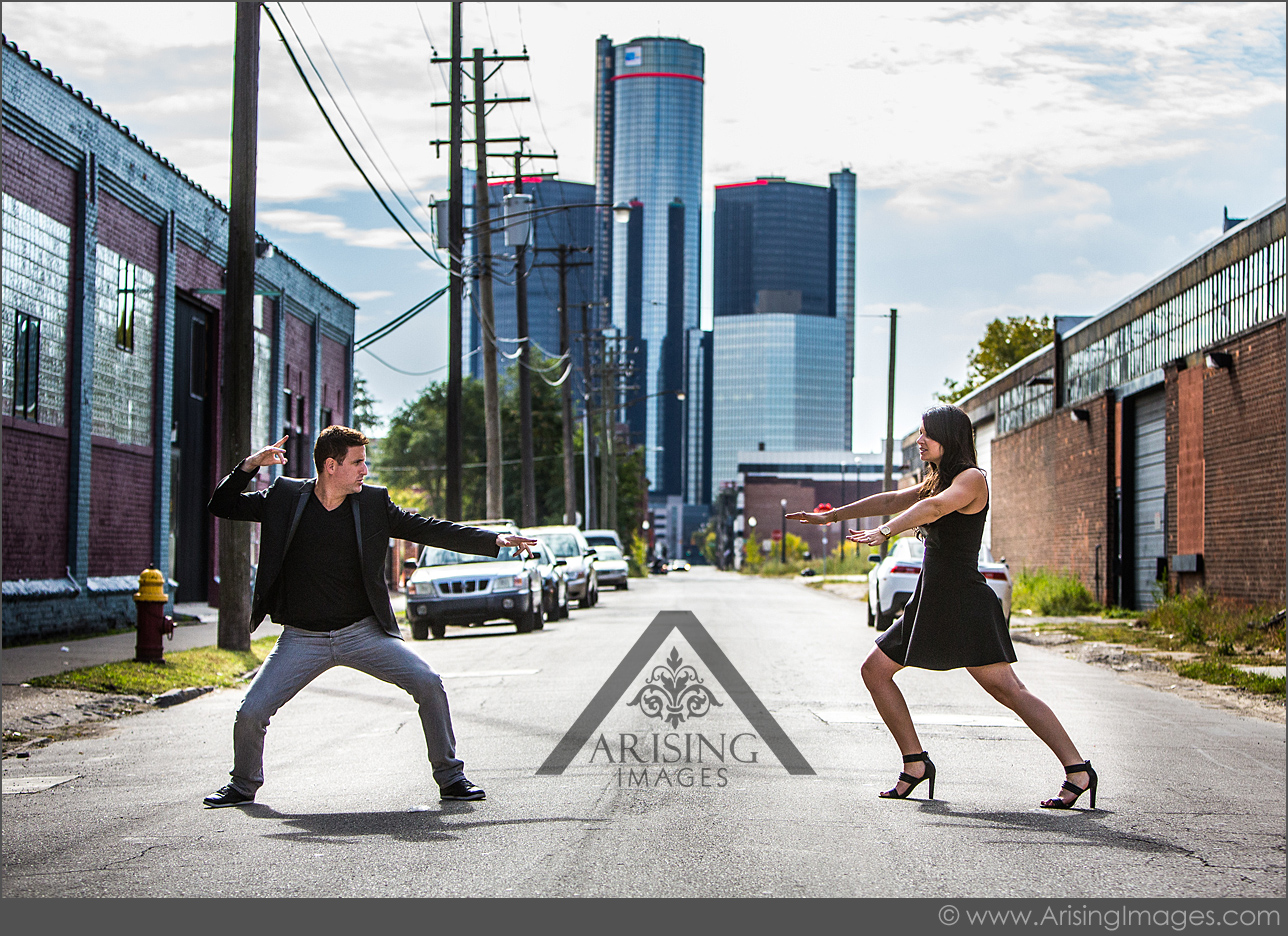 silly engagement pictures in michigan