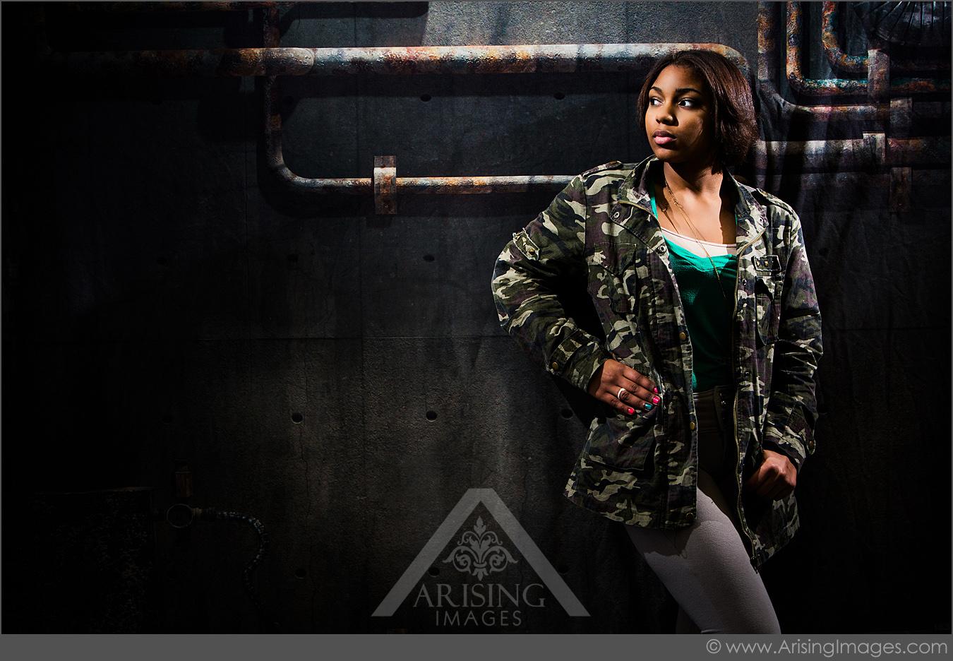 urban high school girl michigan photoshoot