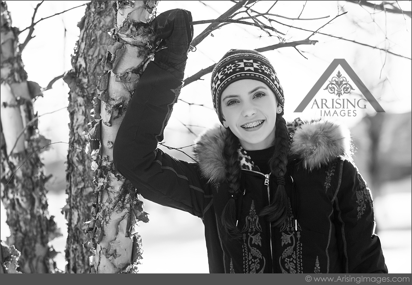 winter kids pictures in rochester michigan