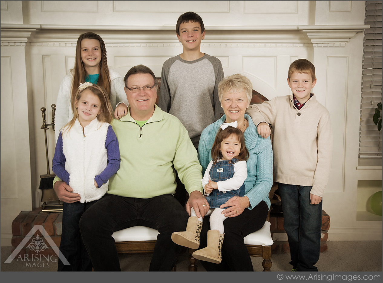 michigan family pictures with grandparents