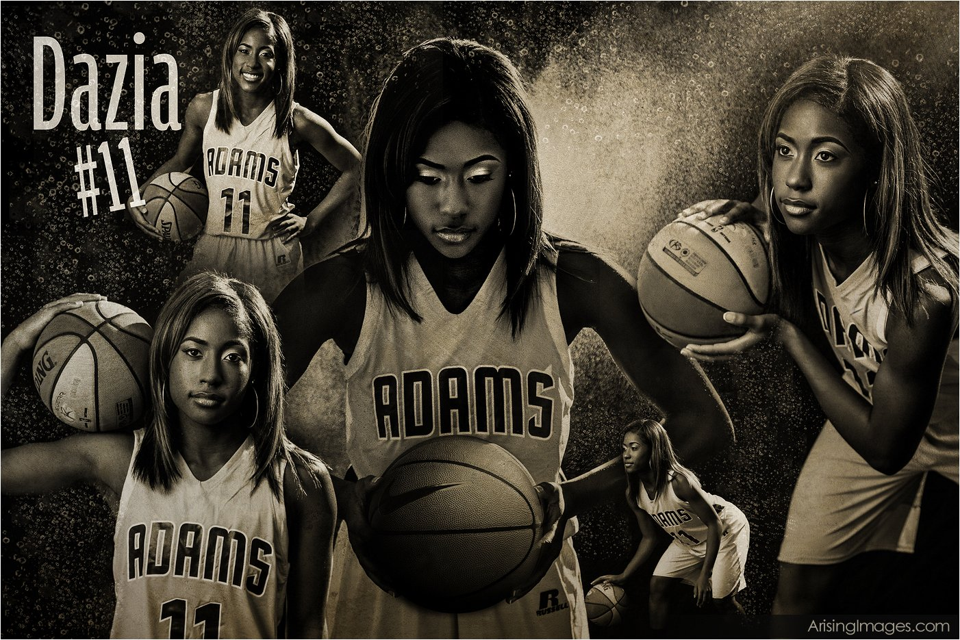 cool basketball senior picture sport poster