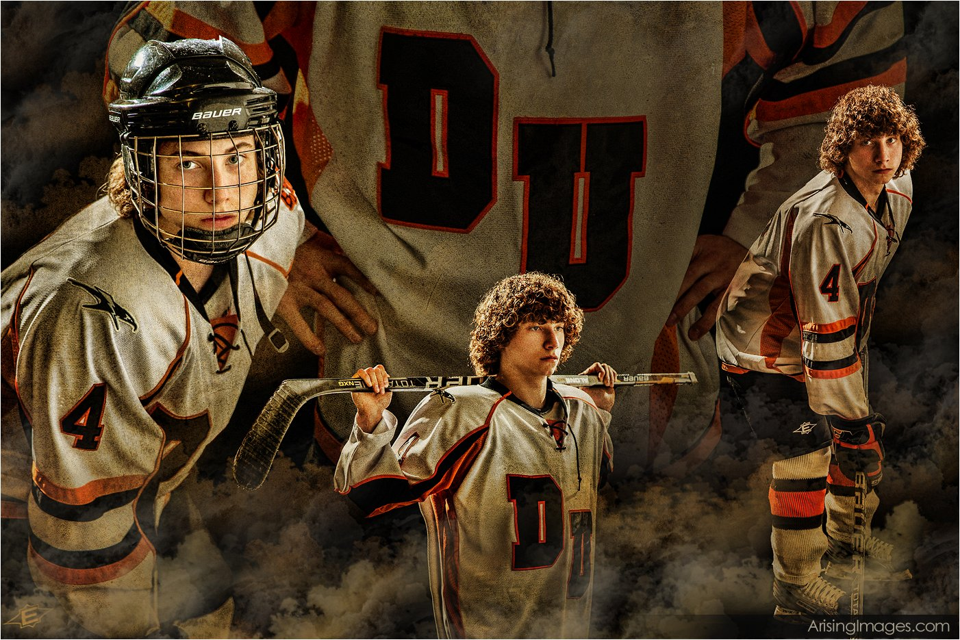 cool hockey player senior pictures