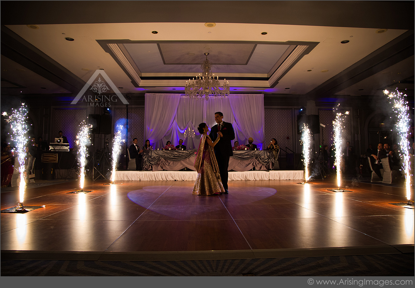 michigan wedding photography fireworks during first dance