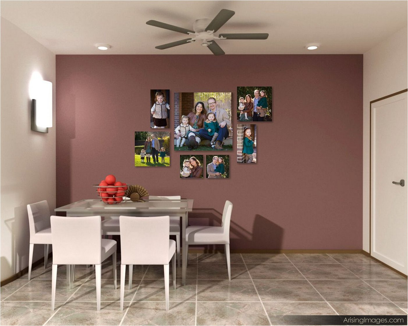 family portrait wall clusters
