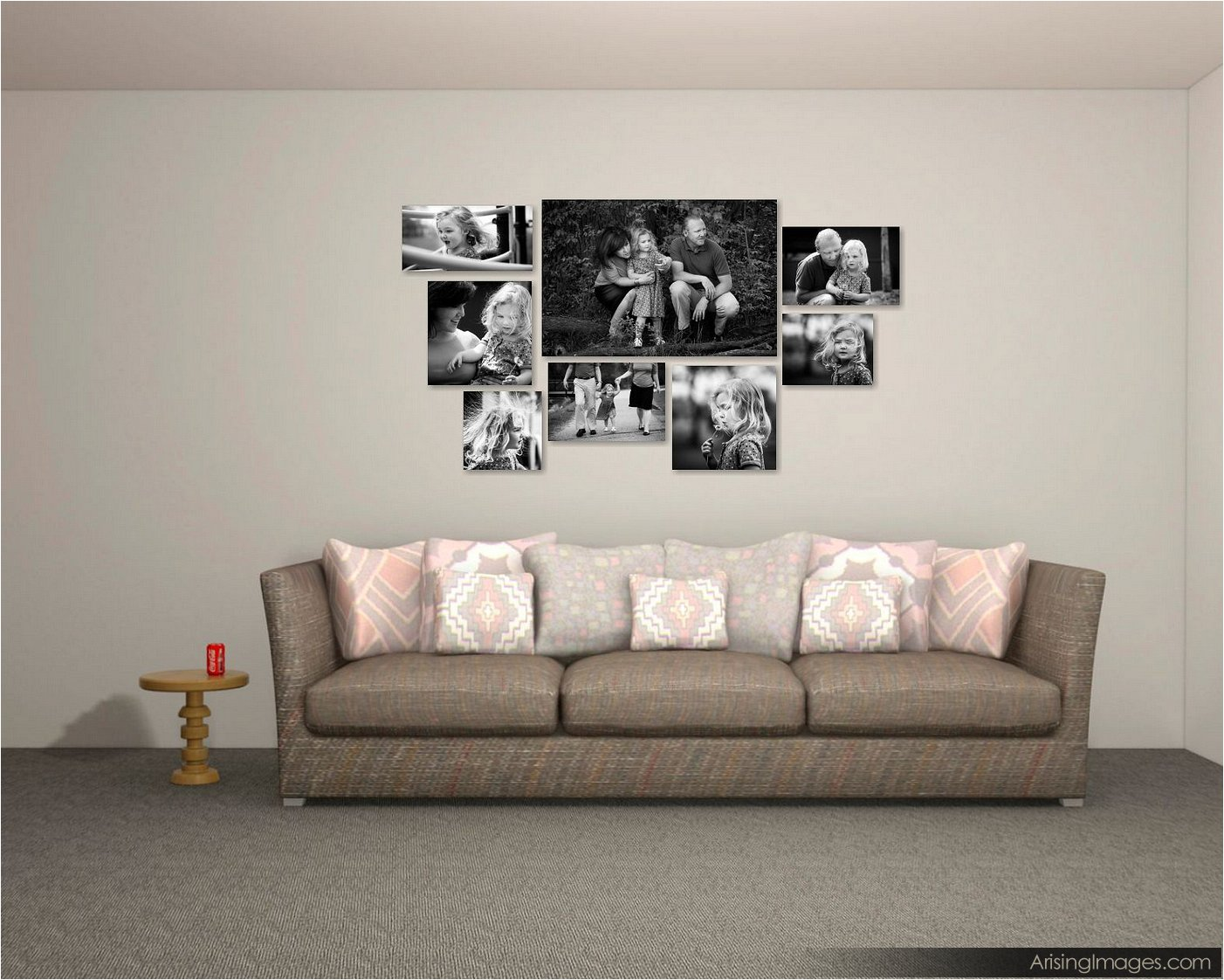 cool design ideas for pictures on your wall