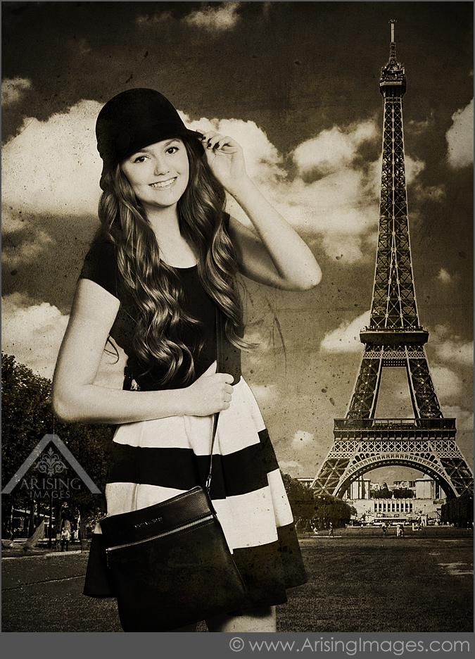 paris inspired senior pictures